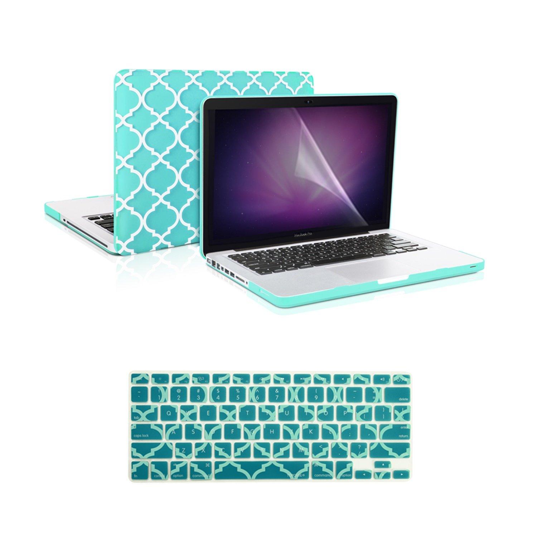 "Keyboard Skin Pink Quatrefoil Hard Case LCD for Macbook Pro 15/"" Model A1286"