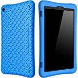 Bear Motion Silicone Case for Fire HD 8 2017 - Anti Slip Shockproof Light Weight Kids Friendly Protective Case for All-New Fire HD 8 Tablet with Alexa (7th Gen 2017 Model) (Blue)