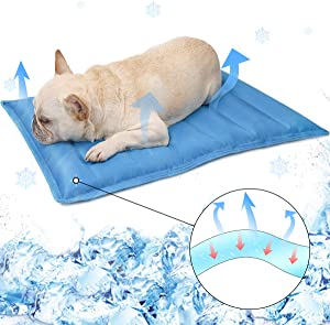 DogLemi Pet Dog Cooling Mat Summer Water Filling Gel Pet Pad Bed Ice Water Cool Pad for Pets