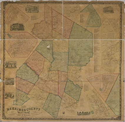 Amazon Com 1859 Map Of Herkimer County New York Size 24x24 Ready