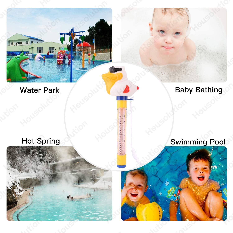 Term/ómetro de Agua de Dibujos Animados Amable de Pool Housolution Term/ómetro Flotante para Piscina Piscina SPA Medidor de Digital Port/átil Cocodrilo