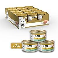 Gourmet Gold Mousse per il Gatto, con Merluzzo e Delicate Carote, 85 g - Confezione da 24 Pezzi