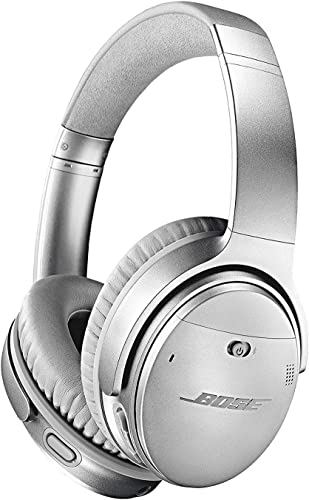 Bose QuietComfort 35 Series II Wireless Headphones, Noise Cancelling – Silver Renewed