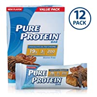 Deals on 12 Pack Pure Protein Bars Chocolate Salted Caramel, 1.76Oz