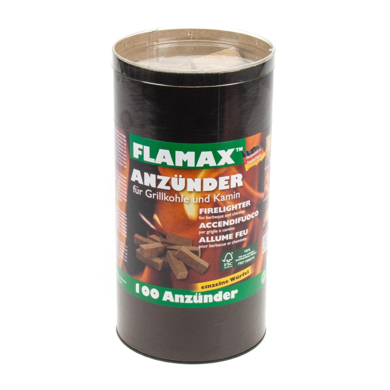 Grillanzünder Kaminanzünder,Kamin Grill,Ofen Anzünder Floretts 100 Stk,Flamax