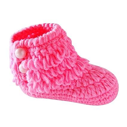 chic-chic- niño bebé Crochet tejer Botines en bas Age pequeños niñas zapatos botines
