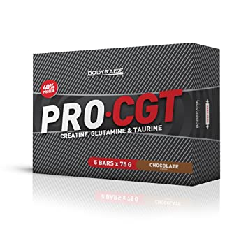 CGT Protein Bar 5x75g - Suplemento de Chocolate - Fórmula con Proteínas, Aminoácidos y Vitaminas - Potencia el Crecimiento Muscular, el Rendimiento, ...