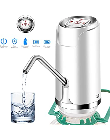 Drinking Water Pump, ONEVER Wireless Automatic Electric Drinking Bottle Water Dispensing Pump System with 5W
