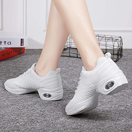 3361a87bd6c3 Amazon.com  YIBLBOX Womens Mesh Ballroom Dance Sneakers Lightweight  Comfortable Jazz Shoes  Clothing