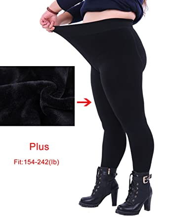 9664b086019 UP Women s Plus Size Winter Warm Thick Pants Thermal Full Length Leggings