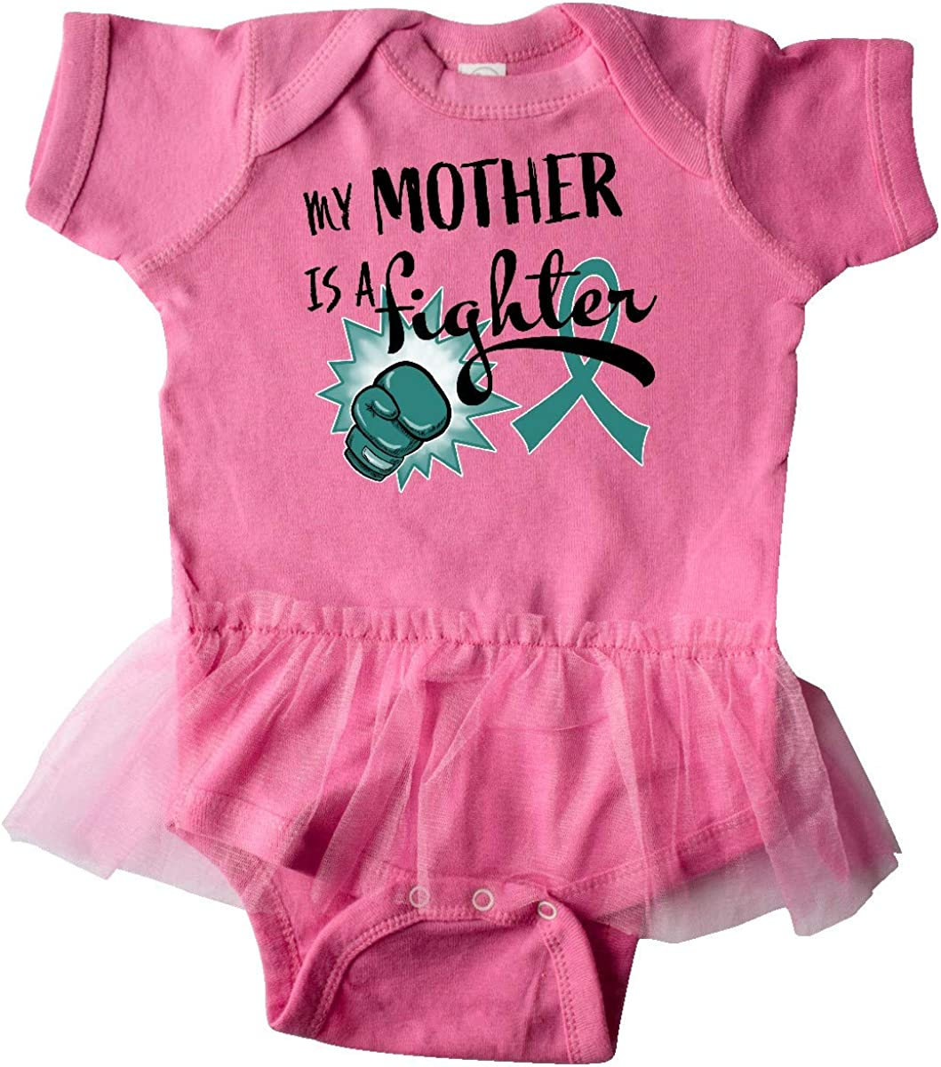 inktastic Ovarian Cancer Awareness My Mother is a Fighter Infant Tutu Bodysuit