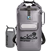 Idrybag Roll Top 20-liter Waterproof Dry Bag Backpack (Gray)