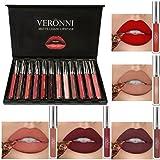 Waterproof Matte Liquid Lip Gloss HUBEE Long Lasting Lipstick Pigmented Makeup Cosmetics(12Colors/set)