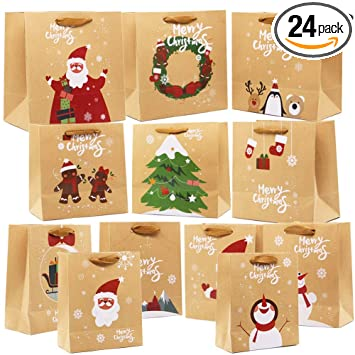 Amazon.com: Lulu Home - Bolsas de regalo de Navidad con asas ...