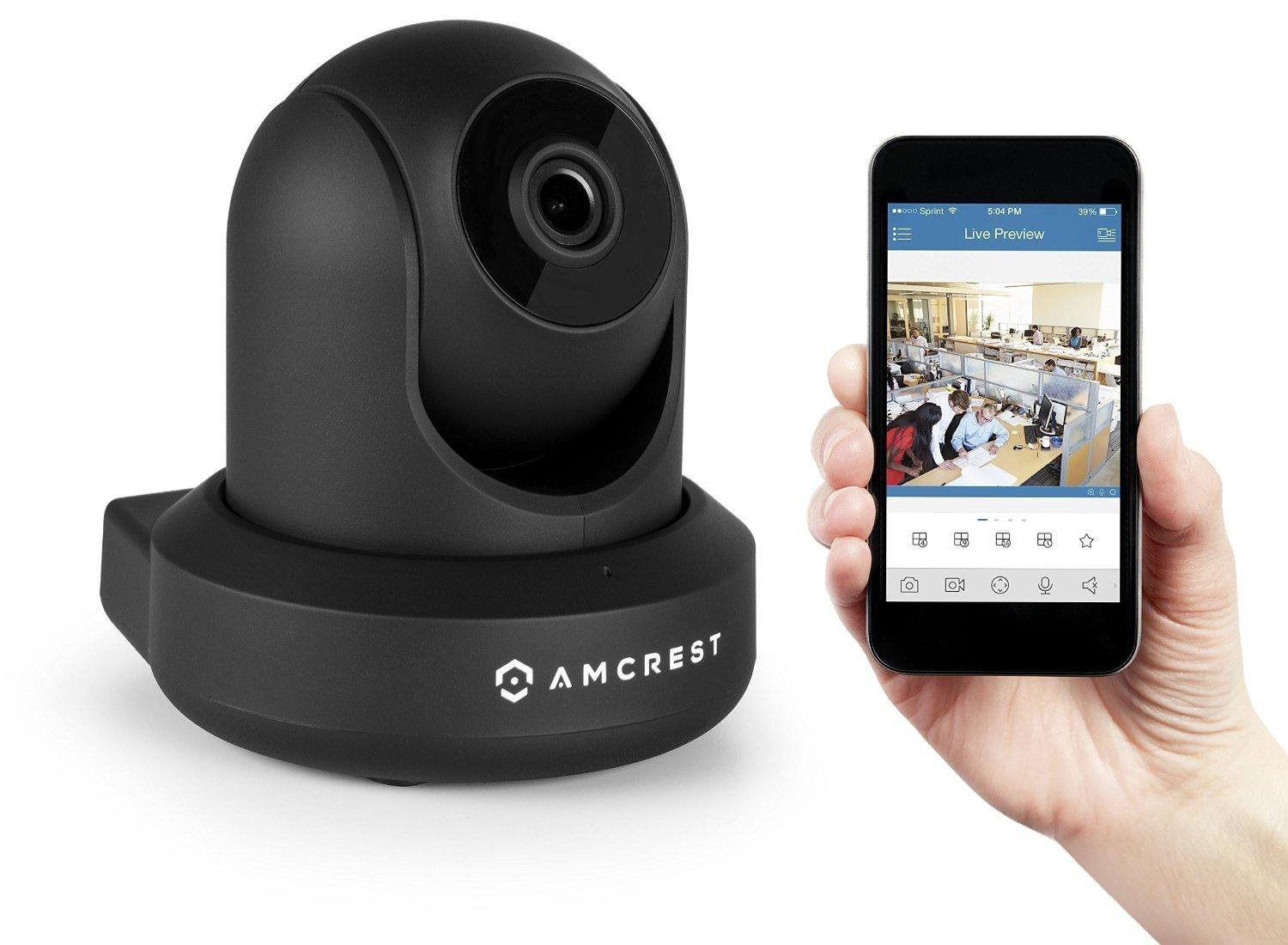 Amcrest ProHD 1080P WiFi Camera 2MP (1920TVL) Indoor Pan/Tilt Security Wireless IP Camera IP2M-841B (Black) by Amcrest (Image #3)