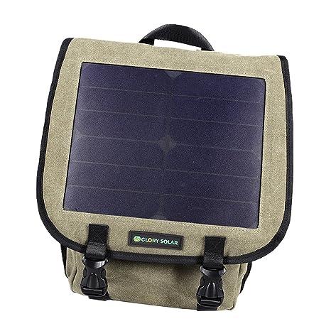 D DOLITY Mochila Portátil con Panel Solar Incorporado Bolso de Ordenador Negocio Trabajo Viaje Acampada Casual
