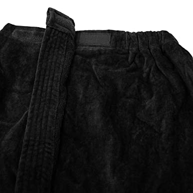 Terry Spa Wrap for Women, Black Small/Medium Size