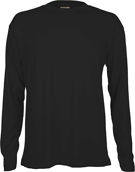 Mens Long Sleeve Premium T Shirts By MIG Sizes S to 4XL - WORK ... 5e219046e7a