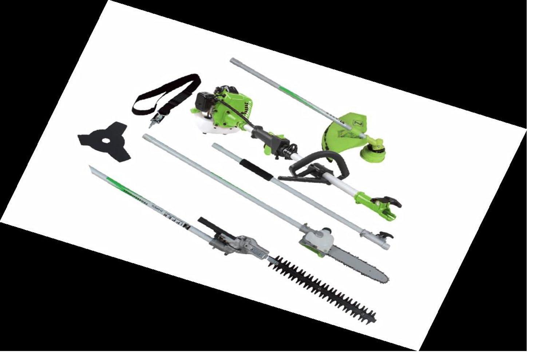 Gartenpflege-Set ZI-GPS 182G - inkl. Entaster, Sense, Trimmer und Heckenschere und Verlängerung 98cm