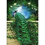 40x60 DIY 5D Diamond Painting Kits Full Drill Diamond Embroidery Green Peacock Diamond Mosaic Crafts