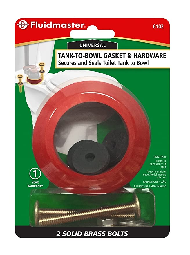 Fluidmaster 6102 2-3/4-Inch Tank to Bowl Bolts and Gasket - Hardware ...