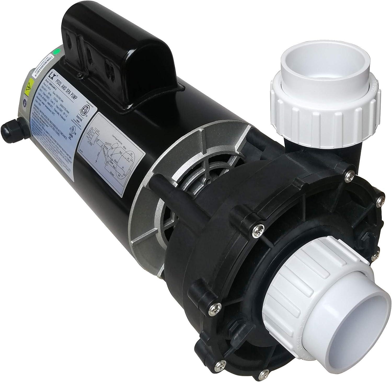 "KL KEY LANDER Hot Tub Spa Pump, 4HP, Single Speed, Bracketless, 56Frame LX Motor (220-240V/60Hz); 2"" Port; OEM# 6500-352; 6500-365; 6500-363 56WUA400-I(NF)"