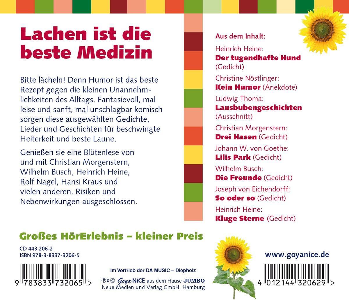 Lachen Ist Die Beste Medizin Geschichten Gedich Amazon