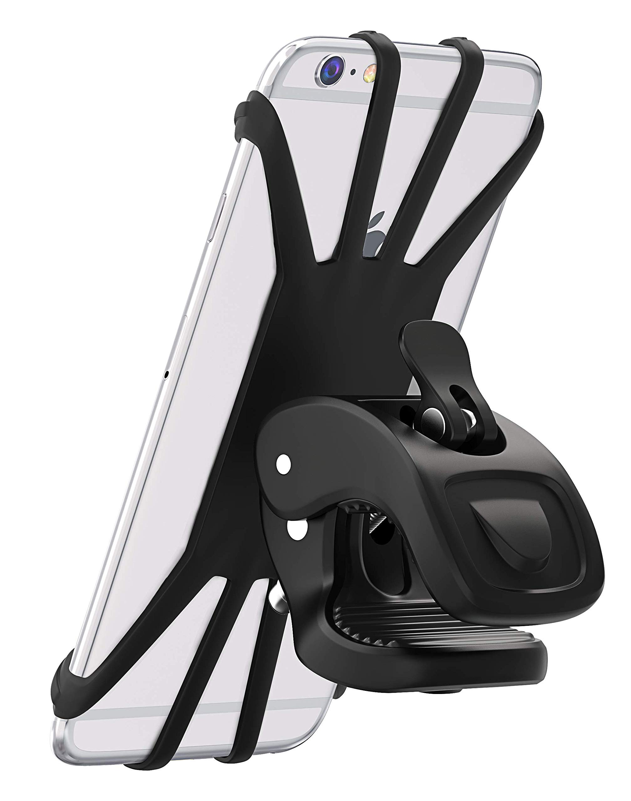 """Vobon Support Téléphone Vélo, Support Moto de Guidon Universel Rotatif à 360 Degrés Anti-Vibrations en Silicone Réglable 4.5""""-6.5"""" (Noir) product image"""