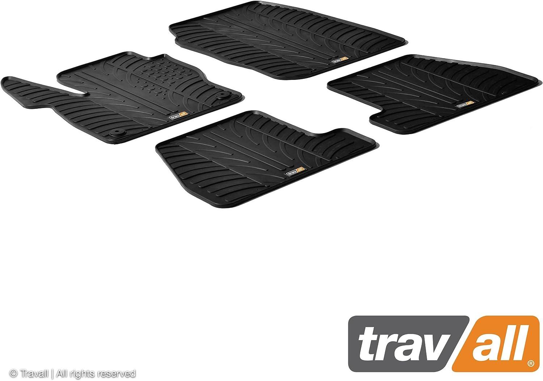 Travall Mats Gummifußmatten Kompatibel Mit Ford Focus 2010 2014 Trm1139 Allwettermatten Nach Maß Fussmatten Set Auto