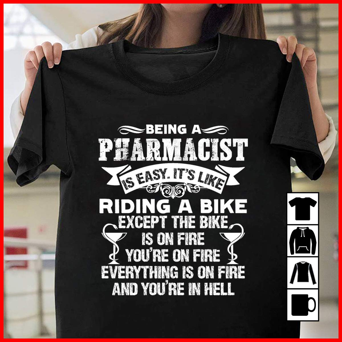 Pharmacist Being A Pharmacist Is Easy Shirt A Person Whose Job Is To Prepare Medicines And
