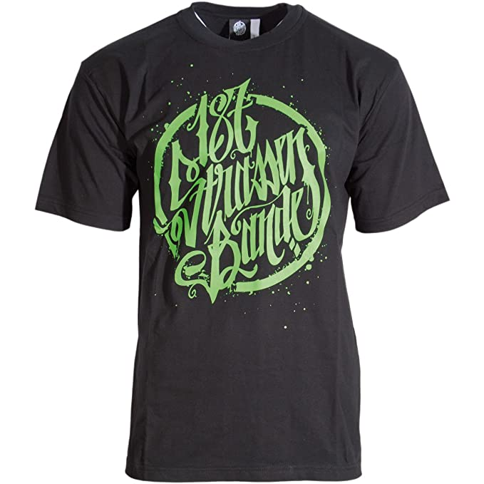 Logo T-Shirt schwarz 187 Stra/ßenbande