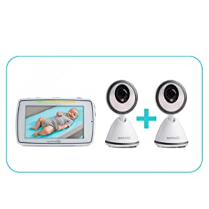 Summer Baby Pixel Video Baby Monitor with 2 Cameras - Baby Video Monitor with Clearer Nighttime Views and SleepZone Boundary Alerts