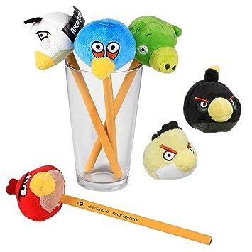 Rovio Set de 6 Peluche de Angry Birds 5cm 100% Original y Oficial