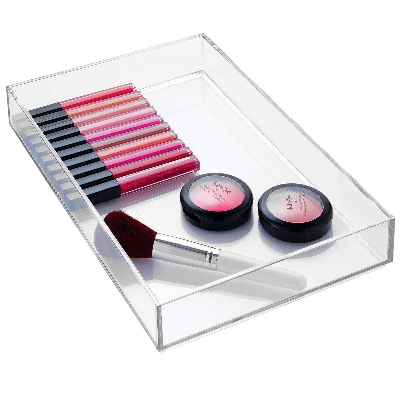iDesign range couvert transparent rangement tiroir pour couverts et divers ustensiles extra-grand casier rangement plastique