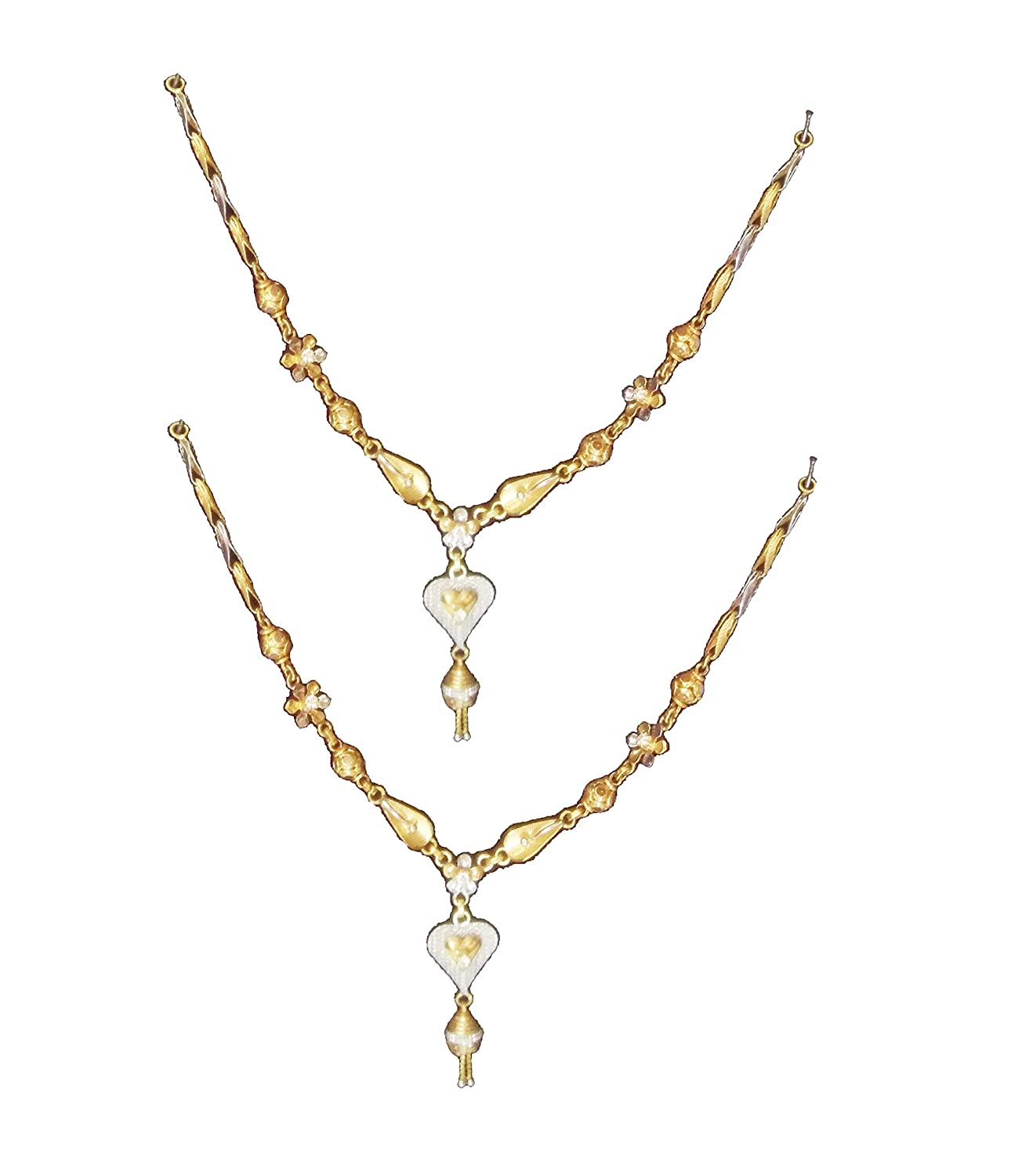 Buy Ravi jewellers pure 916 kdm gold necklace for Women, Size-13.5 ...