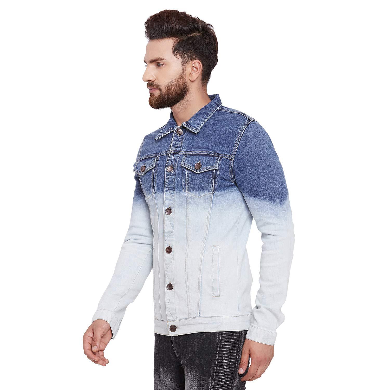 9b814533 FUGAZEE Men's Denim Jacket (Blue, XX-Large): Amazon.in: Clothing &  Accessories