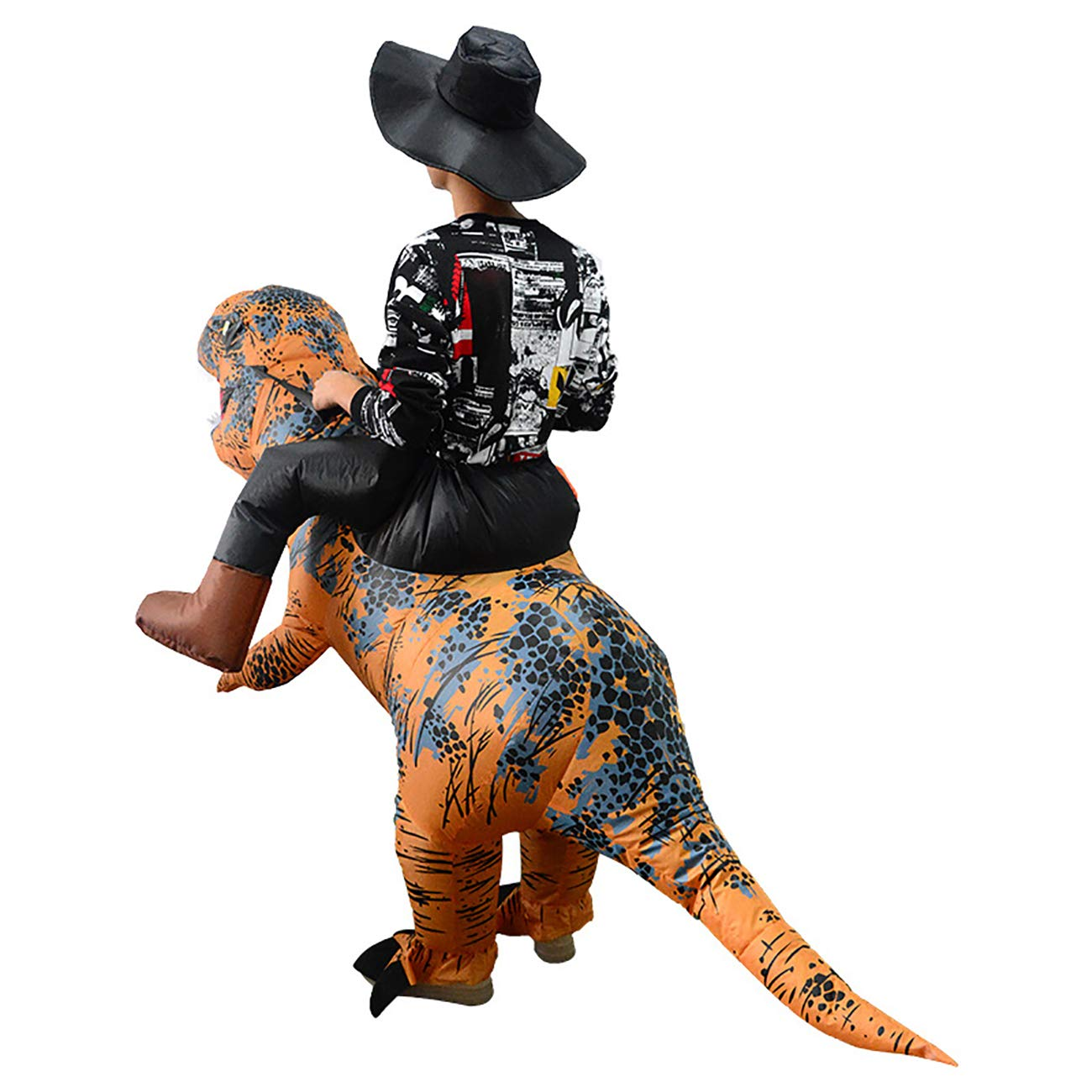 HandsEase Disfraz Hinchable de Dinosaurio, Disfraz de ...