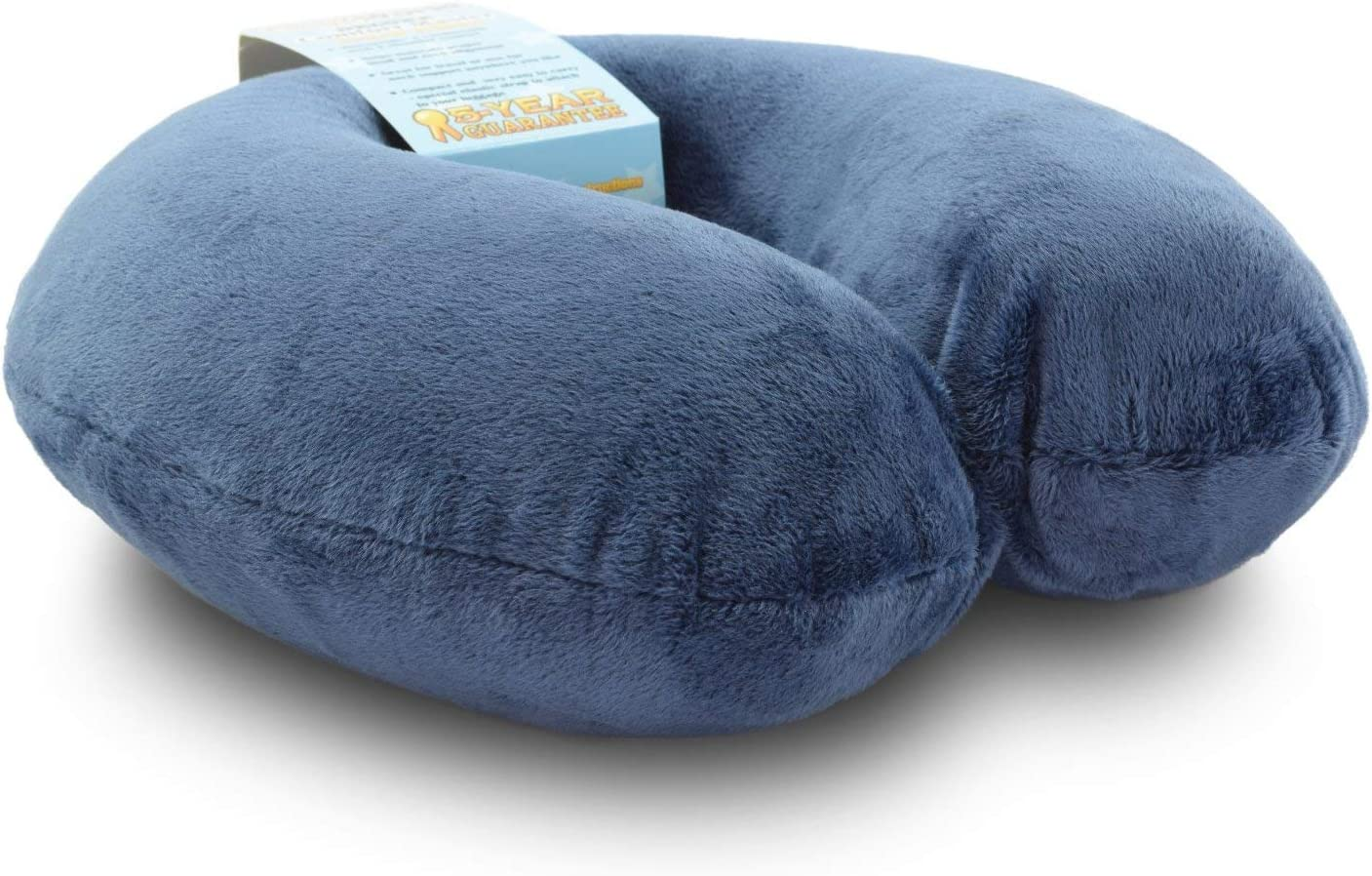 Crafty World Airplane Neck Pillow for Traveling - Memory Foam, Adjustable Travel Pillows for Sleeping - Soft Head Rest w/ Neck Support - Comfort Master for Flight, Car Seat & Chair