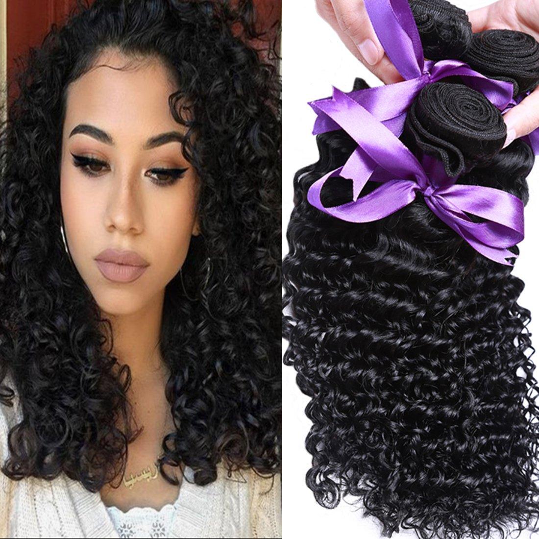 Cheap Angie Queen Virgin Brazilian Hair Deep Wave 3 Bundles 100