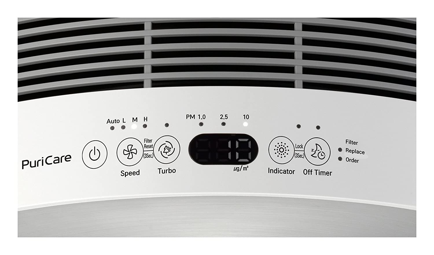 LG AS401VSA0 Sensor Lodecibel PuriCare 3-Stage Filter Purifier with Smart Air Quality Sensor and LoDecibel Operation, Brushed Silver