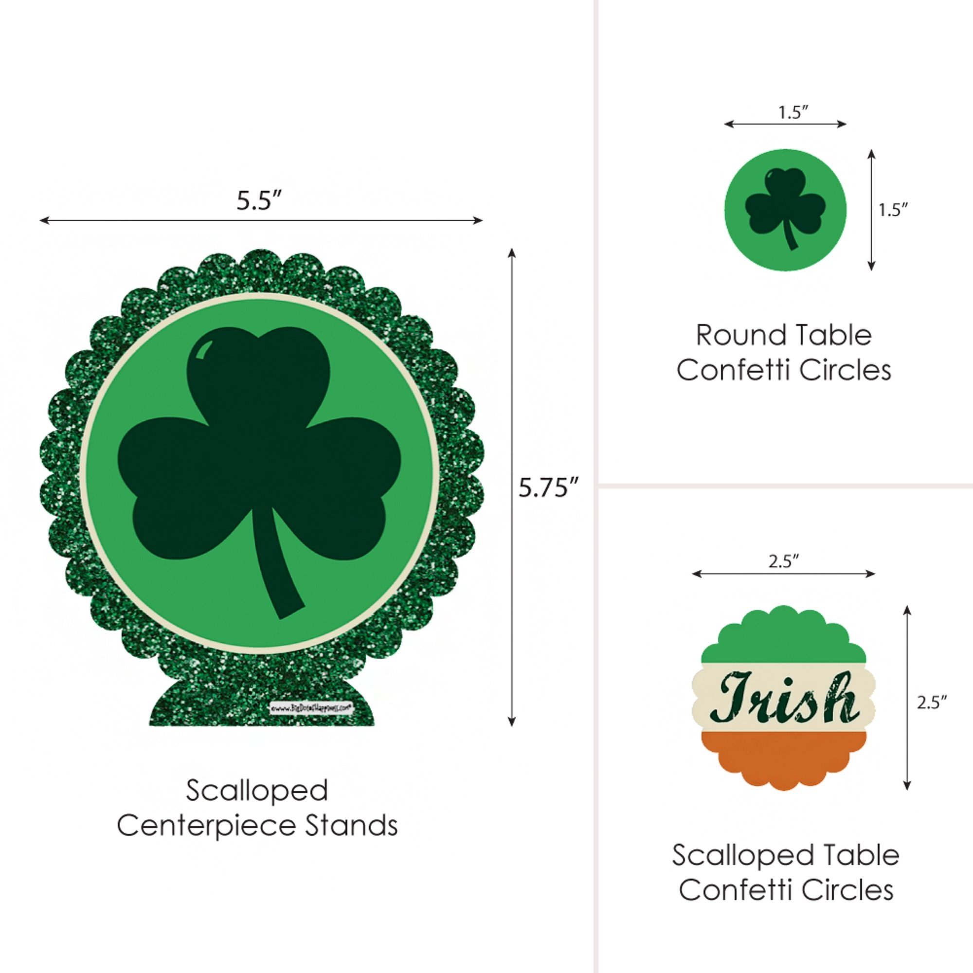 Big Dot of Happiness St. Patrick's Day - Saint Patty's Day Party Centerpiece & Table Decoration Kit by Big Dot of Happiness (Image #5)