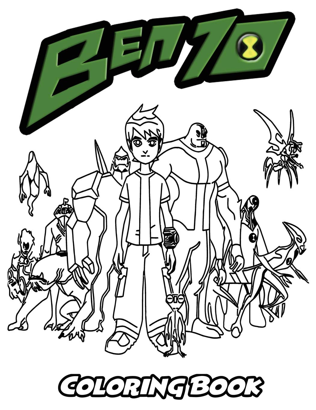 Amazon Com Ben 10 Coloring Book Coloring Book For Kids And