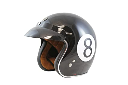 TORC T50 Route 66 3/4 Helmet with Baller Graphic (Black, Large)