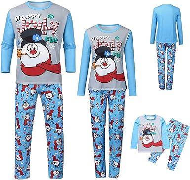 Fossen Kids Pijamas Navideños Familiares con Estampado de ...