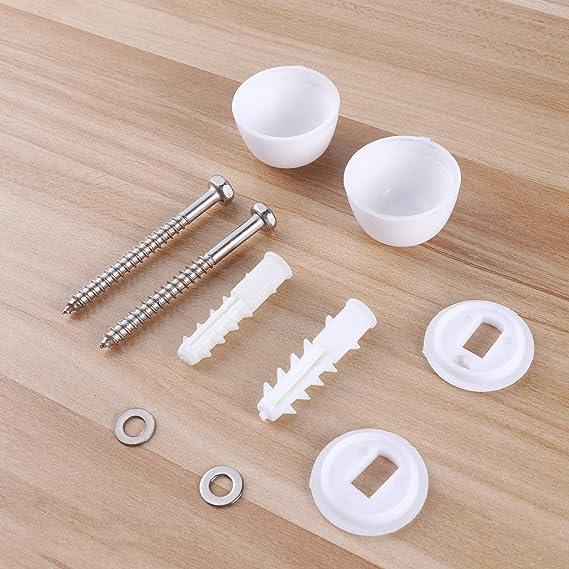 OUNONA cerniere kit riparazione WC bulloni viti di ricambio accessori 10PCS