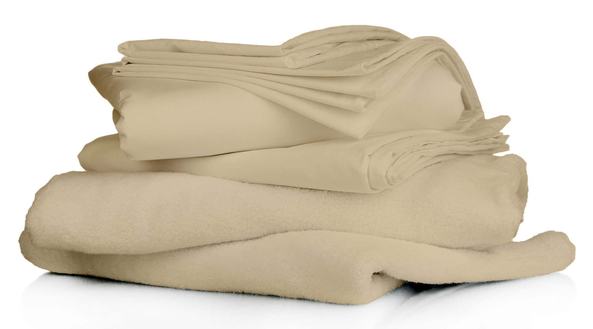 Rainbow Circo 100% Bamboo cotton 600 thread count fill luxurious Italian finish 4 piece premium sheet set comfort Sheet set with 24'' deep pocket made in India (Taupe, Cal-king) by Rainbow Circo (Image #3)