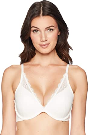 Spanx 32C Undie-Tectable Push-Up Plunge Underwire Ivory Bra New With Tags