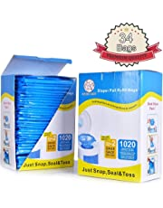 Diaper Pail Refill, Fully Compatible with Arm&Hammer Disposal System,1020 Counts, 34 Bags