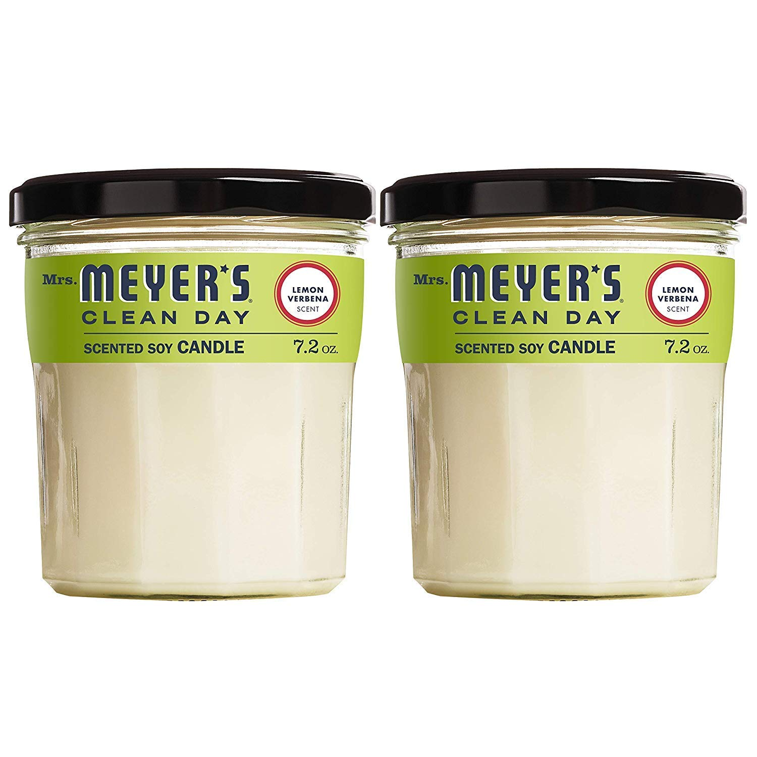 Mrs. Meyers Clean Day Scented Soy Candle, Lemon Verbena, Candle, 7.2 Ounce