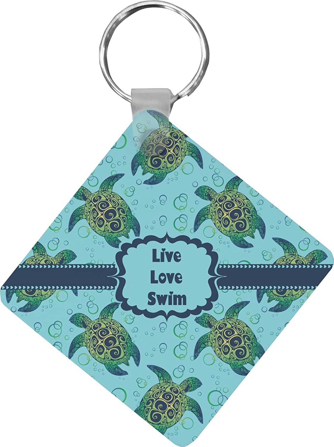 Sea Turtles Diamond Key Chain (Personalized)